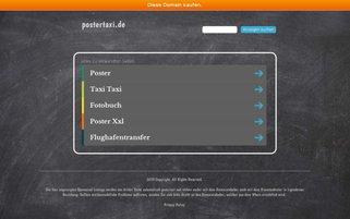 Postertaxi Webseiten Screenshot