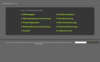 Adamsblatt Webseiten Screenshot