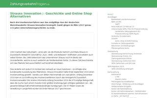 Strauss Webseiten Screenshot