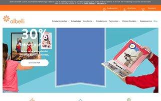 Albelli Webseiten Screenshot