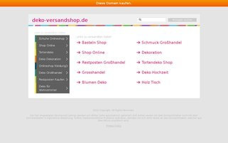 deko-versandshop.de Webseiten Screenshot
