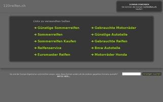 123reifen.ch Webseiten Screenshot