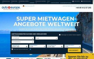 Auto Europe Webseiten Screenshot