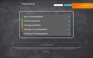 Bioapo-plus Webseiten Screenshot
