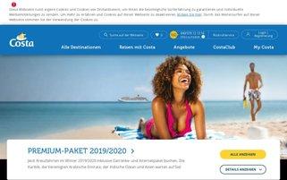 Costa Kreuzfahrten Webseiten Screenshot