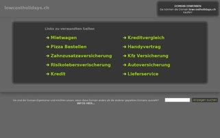 lowcostholidays.ch Webseiten Screenshot