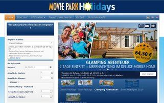 Movie Park Holidays Webseiten Screenshot