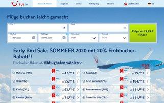 TUIfly.com Webseiten Screenshot