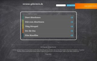 Veronas Geheimnis Webseiten Screenshot