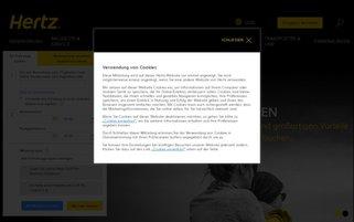 hertz.com Webseiten Screenshot