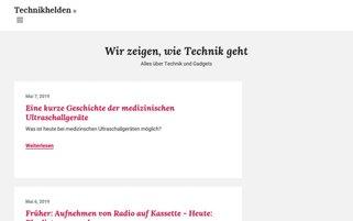 dietechnikhelden.de Webseiten Screenshot
