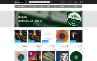 DJ Shop Webseiten Screenshot
