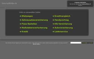 Luxury4Kids Webseiten Screenshot