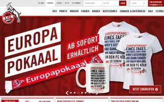 1. FC Köln Webseiten Screenshot
