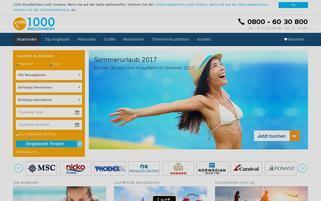 1000Kreuzfahrten Webseiten Screenshot