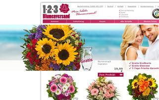 123 Blumenversand Webseiten Screenshot
