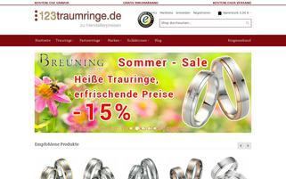 123traumringe.de Webseiten Screenshot