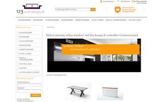 123wohndesign.de Webseiten Screenshot
