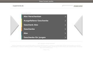 12Geschenke Webseiten Screenshot