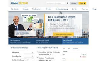 1822direkt Webseiten Screenshot