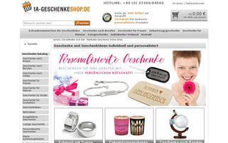 1a-geschenkeshop.de Webseiten Screenshot