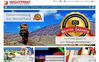 1Nightprint Webseiten Screenshot