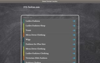 212-fashion.com Webseiten Screenshot