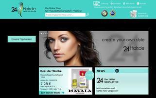 24Hair Webseiten Screenshot