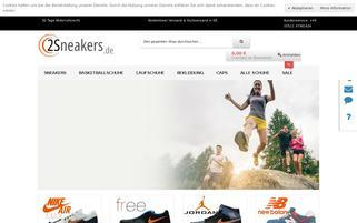 2sneakers.de Webseiten Screenshot