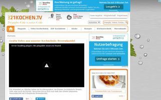 321kochen.tv Webseiten Screenshot