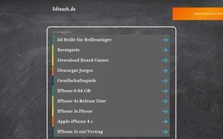 3Dtouch Webseiten Screenshot
