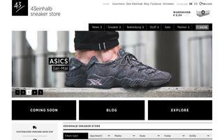 43einhalb Webseiten Screenshot