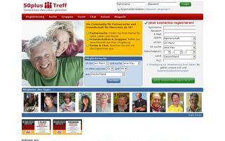 50plus-Treff Webseiten Screenshot