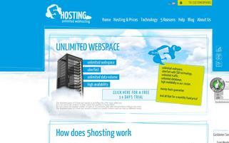 5hosting Webseiten Screenshot