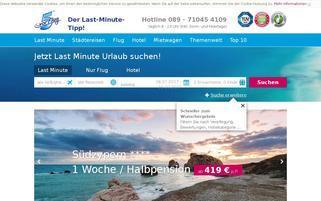 5vorFlug Webseiten Screenshot