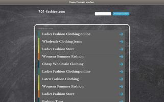 701-fashion.com Webseiten Screenshot