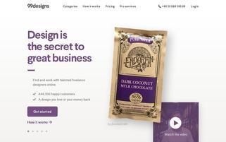 99designs Webseiten Screenshot