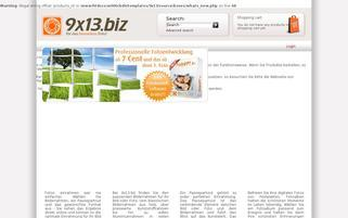 9×13.biz Webseiten Screenshot