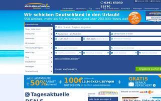 ab in den Urlaub Webseiten Screenshot