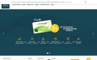 Abba Hotels Webseiten Screenshot