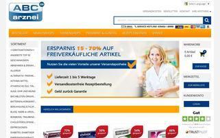 ABC-Arznei Webseiten Screenshot