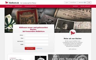 AbeBooks Webseiten Screenshot