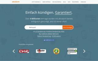 Aboalarm Webseiten Screenshot