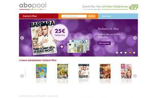 Abopool Webseiten Screenshot
