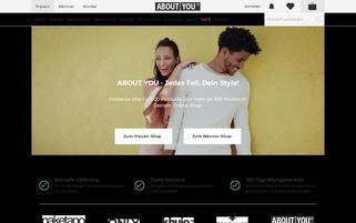 ABOUT YOU Webseiten Screenshot