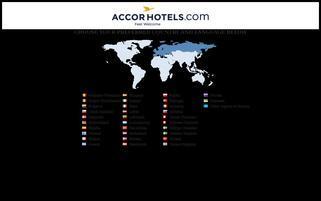 AccorHotels Webseiten Screenshot