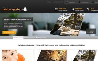 Achtung Poster Webseiten Screenshot