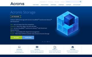 Acronis Webseiten Screenshot