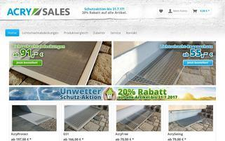 ACRY Sales Webseiten Screenshot