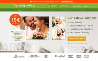 Acrylglas-Foto Webseiten Screenshot
